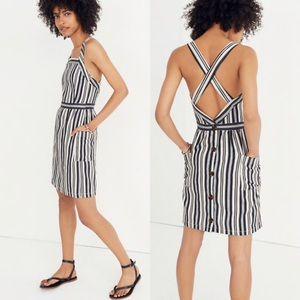 🆕 Madewell apron button-back mini dress